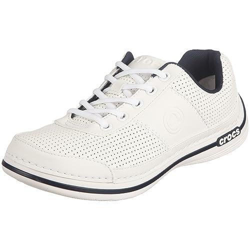 Crocs Crocband entrenador Zapatillas para, color blanco, talla 44.5 EU: Amazon.es: Zapatos y complementos