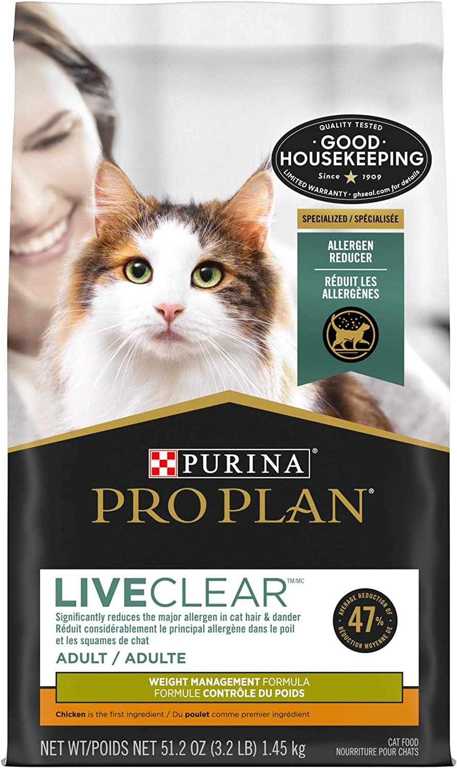 Purina Pro Plan LIVECLEAR Adult Weight Management Formula Dry Cat Food - 3.5 lb. Bag