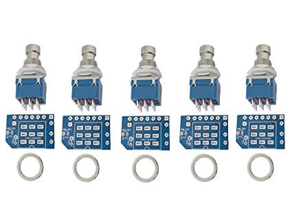 Peachy Amazon Com 5 Pcs 3Pdt Stomp Footswitch Incl Pcb Metal Washer For Wiring 101 Orsalhahutechinfo