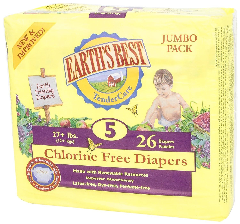 Amazon.com : Cloro pañales gratis, tamaño 5, 26 Count (embalaje puede variar) : Baby