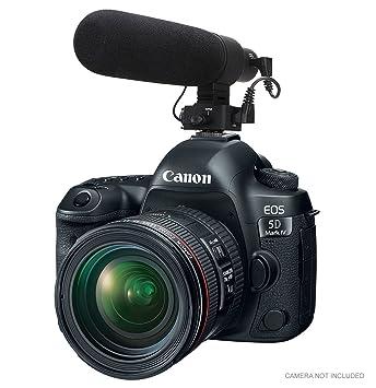 Micrófono de cardioide avanzado para Canon EOS 5D Mark IV (Stereo ...