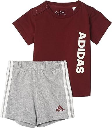 adidas I Sum Set Linea Conjunto de Camiseta con Pantalón Corto, Niños: Amazon.es: Ropa y accesorios