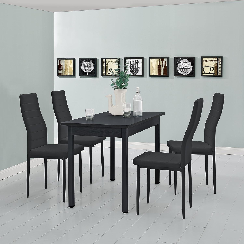 Moderner Esstisch Den HAAG Schwarz 120x60cm 4 Personen Tisch Esszimmertisch K/üchentisch en.casa