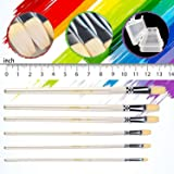 Flat Tipped Brushes for Acrylic Oil Watercolor by