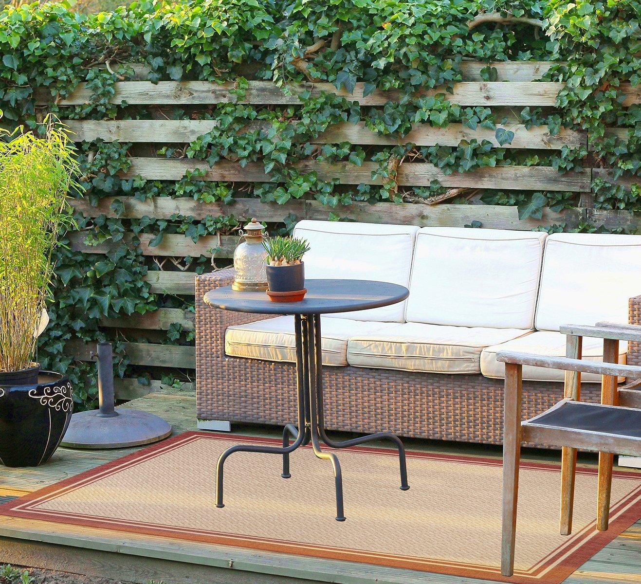 Gertmenian 21360 Nautical Tropical Carpet Outdoor Patio Rug, 5x7 Standard, 765206213608
