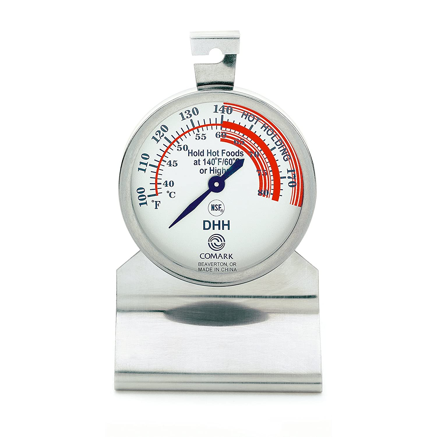 Comark DHH Hot Holding Food Thermometer Stainless Steel Body, Dial Style