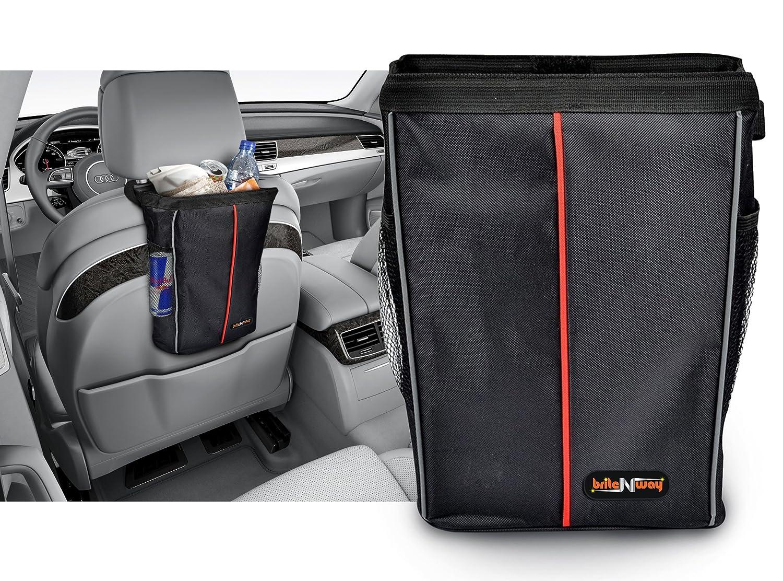 Bolsa de basura para el coche – Bolsa de basura para el automóvil duradera, resistente y a prueba de fugas con capacidad de 3 galones – Una elegante bolsa con superficie interior fácil de limpiar – Un accesorio imprescindibl