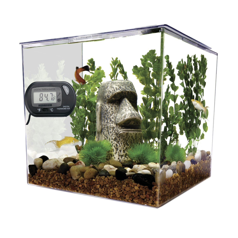 Professional Digital Thermometer for Hydroponics & Aquaculture , Amphibian & Reptile Terrariums , Freshwater Tropical Fish & Saltwater Fish Aquariums , Black by AROCCOM (Image #6)