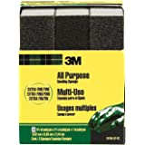 3M Sanding Sponge, Extra Fine, 3.75-Inch by 2.625-Inch by 1-Inch, 3-Pack