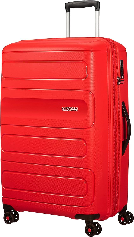 American Tourister Sunside Spinner 77 Expandible, 4.5 kg, 106/118 l, Rojo (Sunset Red)
