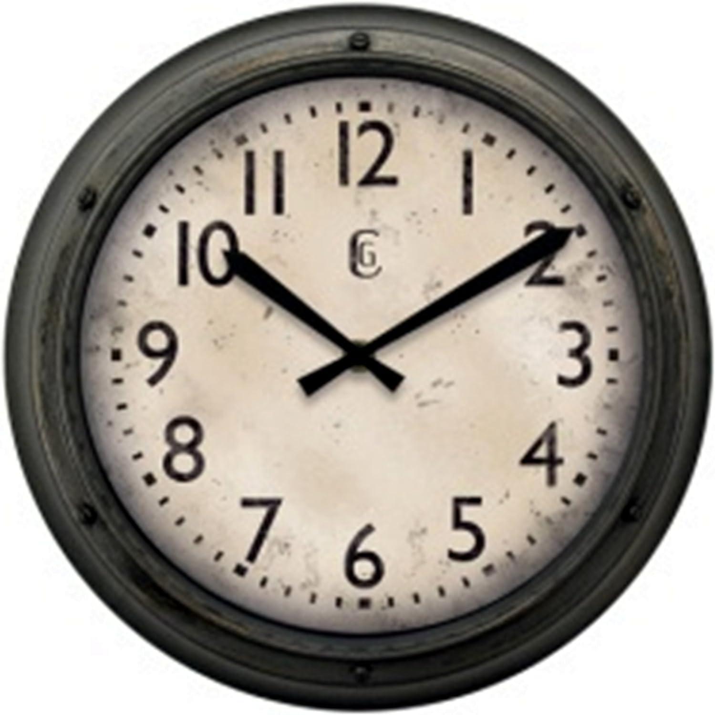 Amazon Com Geneva Clock Plastic Wall Clock 12 Inch Home Kitchen