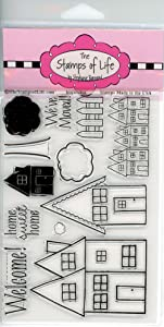 Super Cute House Stamps for Card-Making and Scrapbooking Supplies by The Stamps of Life - Houses4Us Sentiments