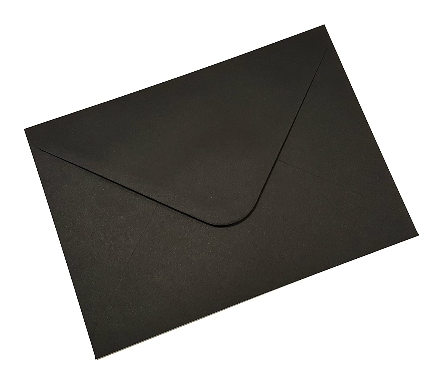 10 DL (110x220mm) Black Coloured Envelopes - Packed by the CandyRushTM Charity - (approx. 4x8.5) For Greetings Cards Crafts & Party Invitations Acceptable Enterprises