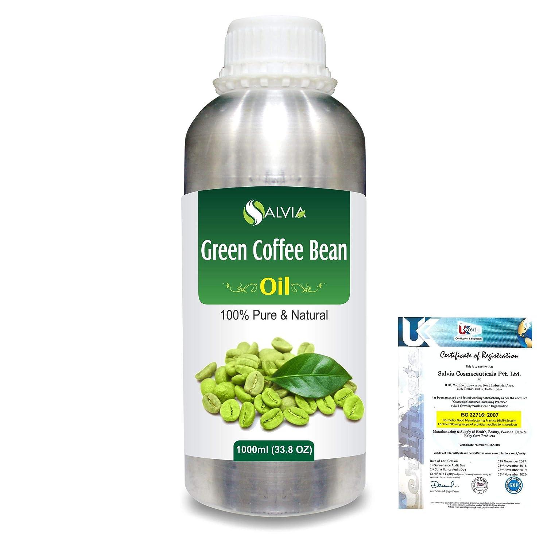 Green Coffee Bean (Coffer) arabica)100% Natural Pure Carrier Oil 1000ml/33.8fl.oz. B07RCDWZ7W