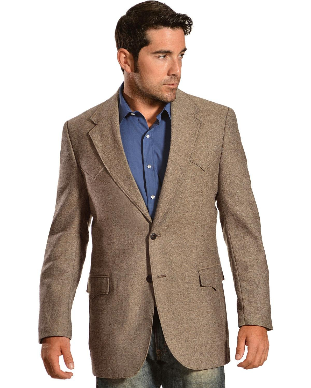 Circle S Men's Lambswool Plano Sport Coat Brown 48 T