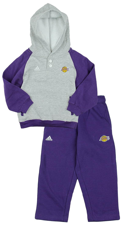 Adidas NBA Los Angeles Lakers Poco niños Toddler 2 Piezas Sudadera con Capucha y Pantalones Set, Gris: Amazon.es: Deportes y aire libre