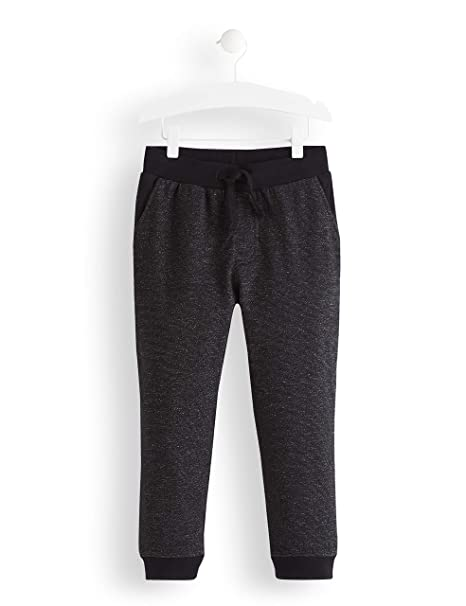 RED WAGON Boys Textured Jogger Trouser, Black, 110 (Manufacturer ...