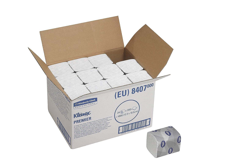 Kleenex 8407 Premier Papier Toilette Pli/é 200 Feuilles /à 2 Plis Blanche Pack de 24