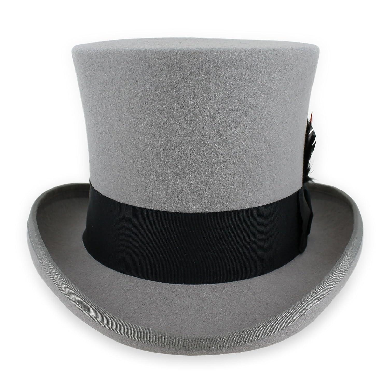 Belfry Top Hat Theater Quality 100% Wool in Black Grey Or Pearl Hats in the Belfry