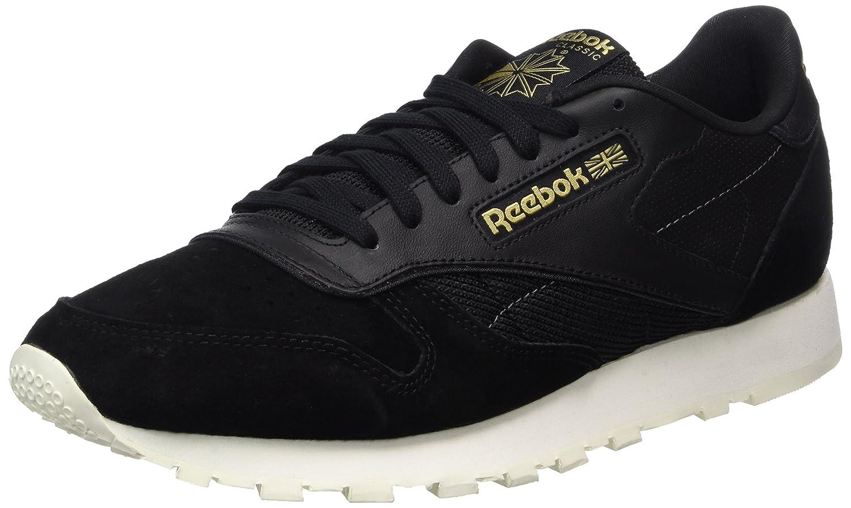 Reebok Herren Classic Leather Alr Sneaker  42 EU|Schwarz (Black/Chalk/Ash Grey/Rbk Brass)