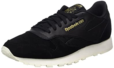 e82d1986f66 Reebok Men s s Classic Leather Alr Low-Top Sneakers Black Chalk ash Grey