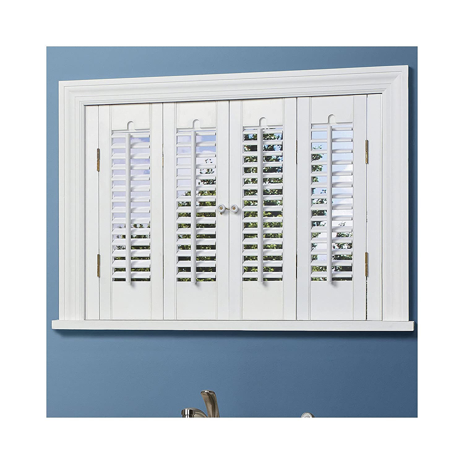 Amazon.com: Traditional Wood Interior Shutters   4 Panels: Home U0026 Kitchen