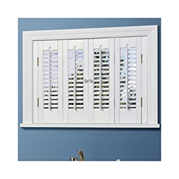 Amazon.com: Traditional Wood Interior Shutters - 4 Panels: Home ...