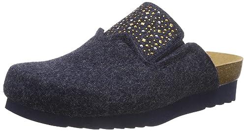 nouveaux styles e4bc3 15a9f Scholl SANAKE blue, pantoufle femme