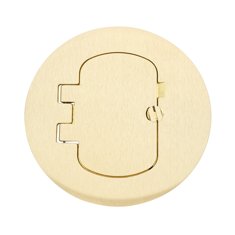 Carlon E97BRR Duplex//GFCI Round Floor Box Cover Kit Brass