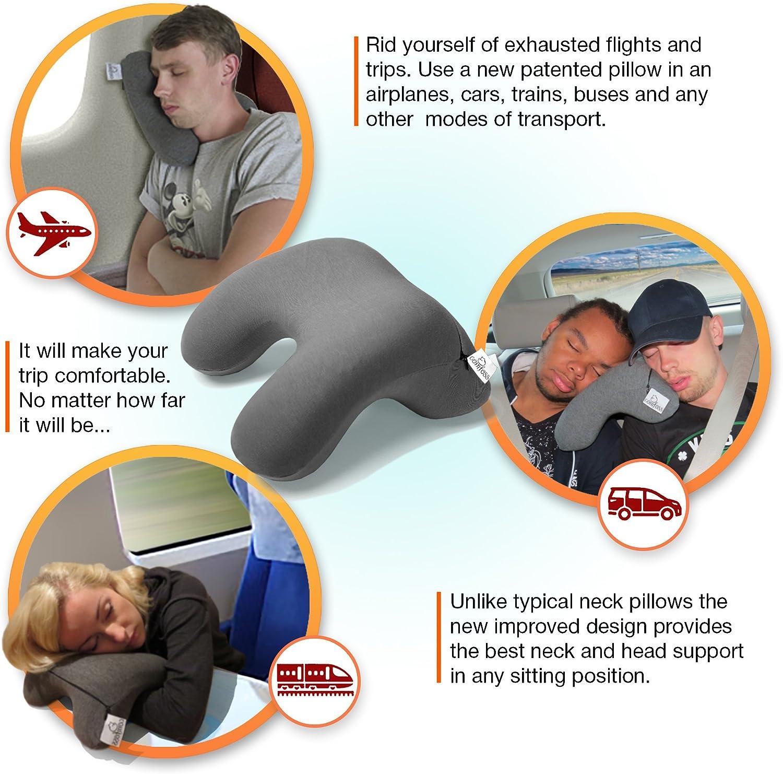 PETANI Memory Foam Travel Pillow, 3