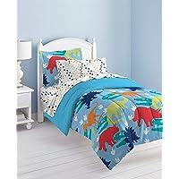 Dream Factory Dinosaur Prints Comforter Set, Multi-Colored, Twin