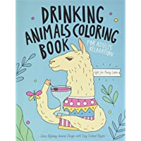 Drinking Animals Coloring Book: A Fun Coloring Gift Book for Party Lovers & Adults Relaxation with Stress Relieving…