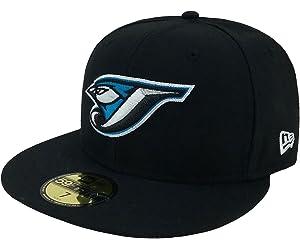 brand new 82d32 dab48 New Era 59Fifty Hat MLB Toronto Blue Jays Black Team Fitted Cap