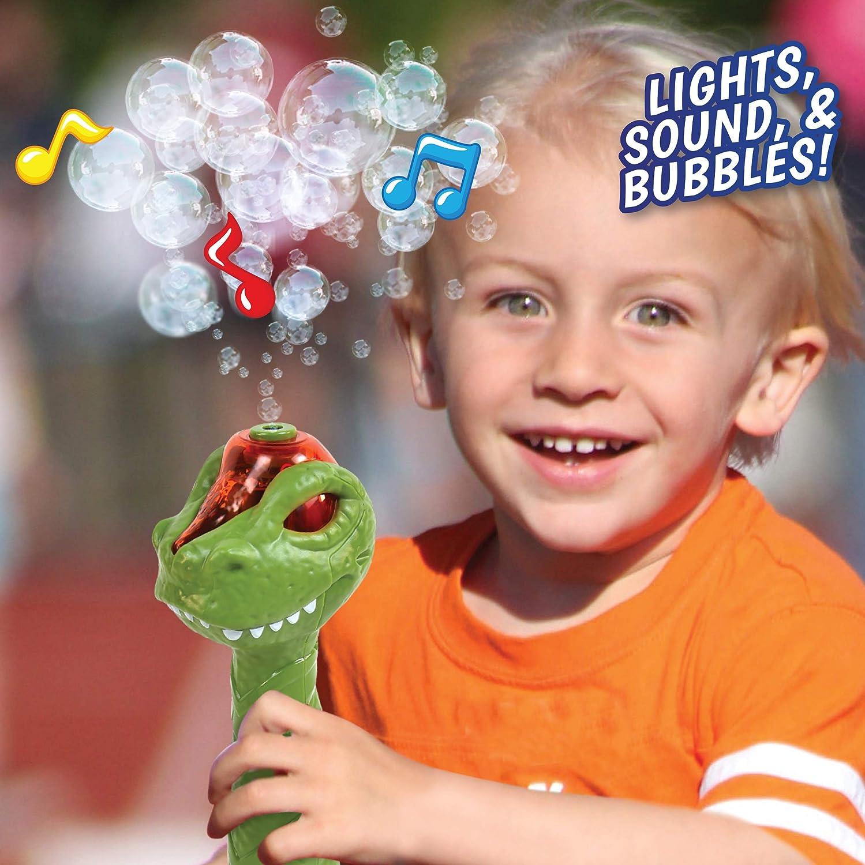 Light Up Bubble Blo Sunny Days Entertainment Maxx Bubbles Dinosaur Bubble Wand
