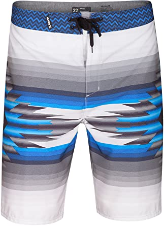"38404df439 Hurley Men's Phantom Pendleton 20"" Boardshorts Bright Grey Heather 32"