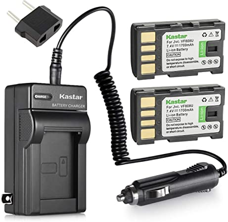 GZ-MG680U GZ-MG650U GZ-MG730 GZ-MG680 GZ-MG670U GZ-MG730U Camcorder GZ-MG670 GZ-MG650 GZ-MG630U Battery 2 Pack and LCD USB Battery Charger for JVC Everio GZ-MG630