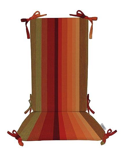 Indoor/Outdoor Sunbrella Astoria Sunset Rocking Chair 2 Pc Foam Cushion Set  ~ Fits Cracker Barrel Rocker