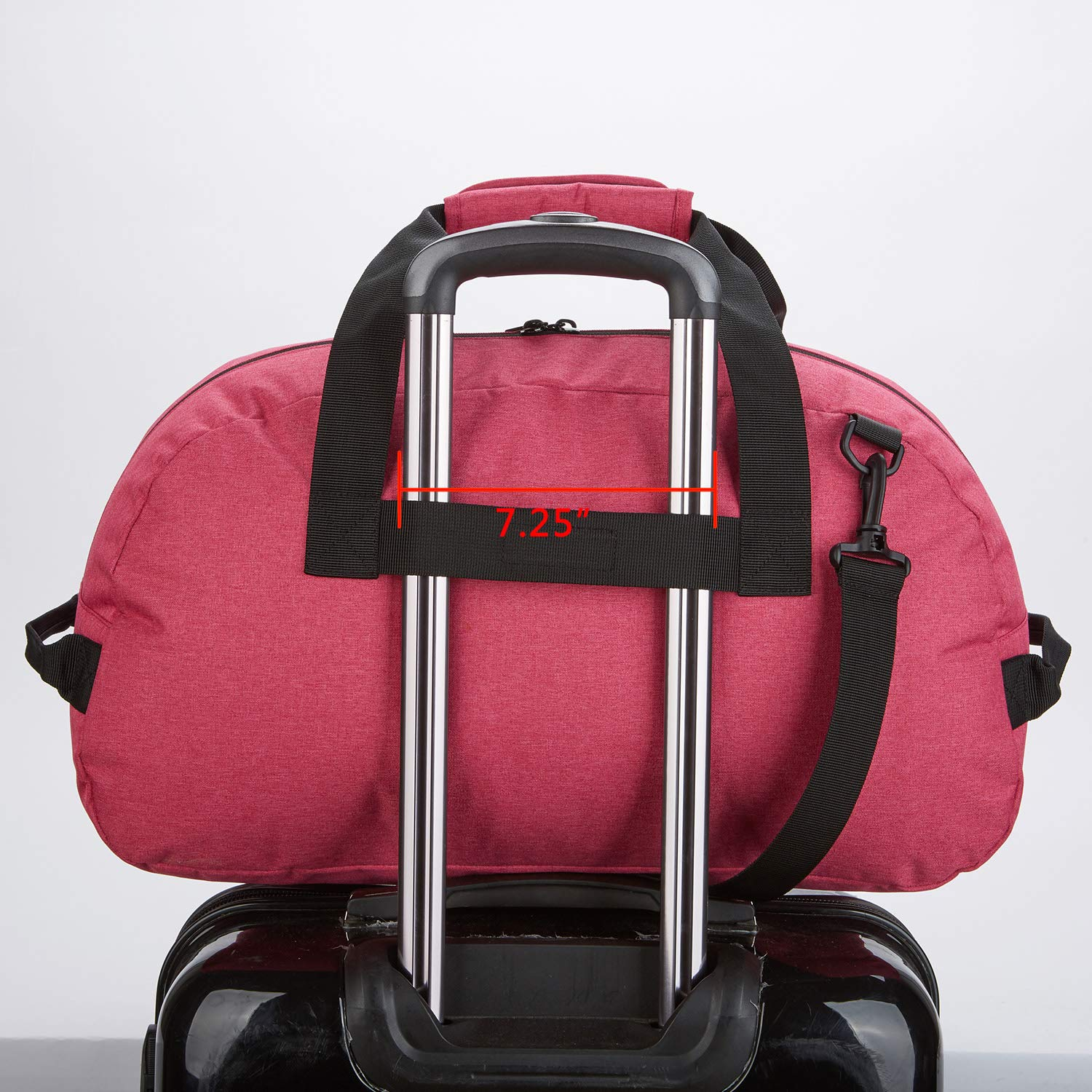 Foldable Small Duffle Bag Nylon for Sports Duffels Lightweight Red-35L