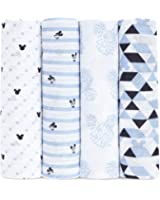 aden by aden + anais muslin swaddle blanket 4-pack- Mickey Mouse (112 x 112cm)