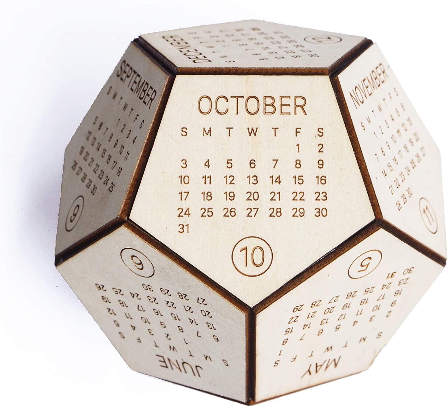 Best Christmas Gifts For Employees 2021 Amazon Com Wooden 12 Sided Calendar 2021 Best Christmas Gifts Wood Desk Calendar Thanksgiving Gift New Year Employee Gift Desk Decor Presents For Boss Office Products