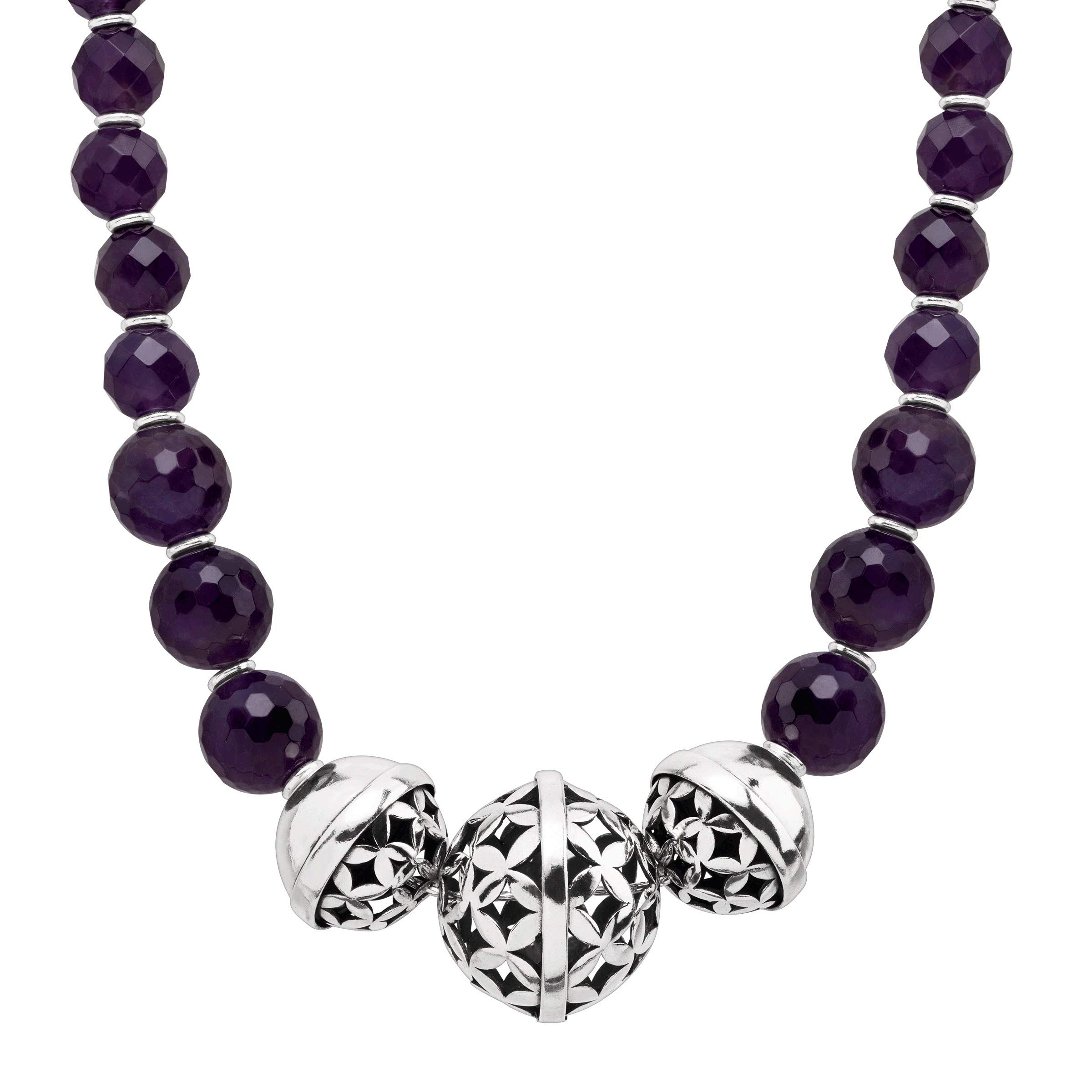 Silpada 'Midnight Maven' Natural Amethyst Statement Necklace in Sterling Silver