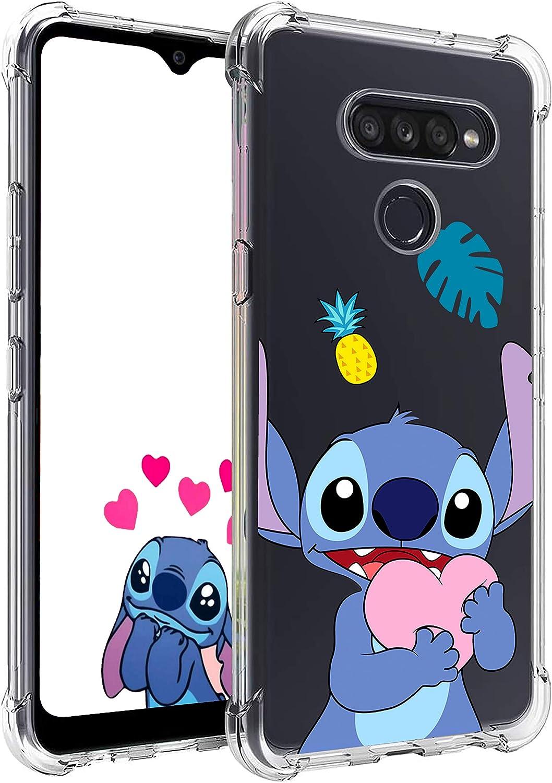 Nico Funda LG G8 ThinQ, LG G8, Lindo Gracioso Dibujos Animados Cáscara Moda, Silicona Gel TPU Transparente Ultra-Delgado Anti-Choque Bumper Case Caso para Teléfono LG G8 (Heart Stch)