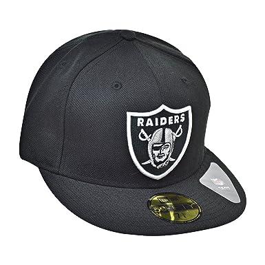 498e4cb6c4b New Era 59Fifty Hat NFL Oakland Raiders Classic Wool Black Fitted Headwear  Cap (7)