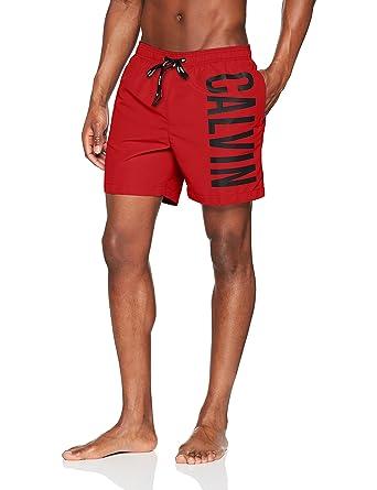 8e3321f748771 Calvin Klein Medium Drawstring, Maillot De Bain Homme, Rouge (Salsa 622),