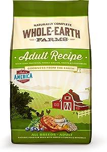 Whole Earth Farms Adult Recipe Dry Dog Food, 5-Pound