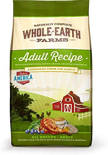 Merrick Whole Earth Farms Adult Recipe Dry Dog Food, 15-Pound