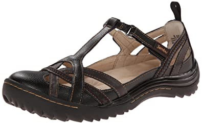 Jambu Women's Charley Flat, Black Earth, ...