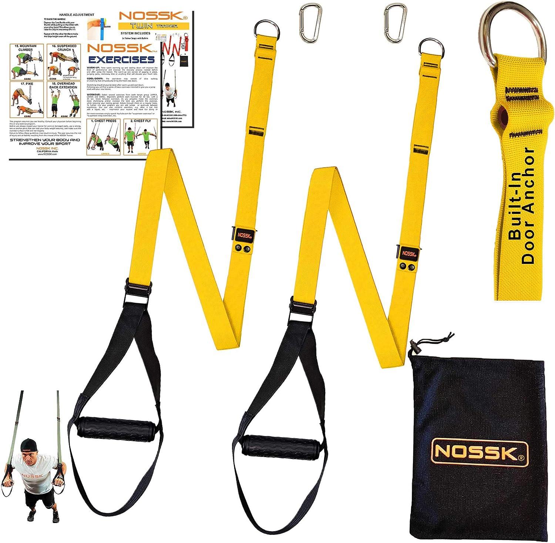 NOSSK Entrenador de correas gemelas Twin Pro Bodyweight (amarillo)