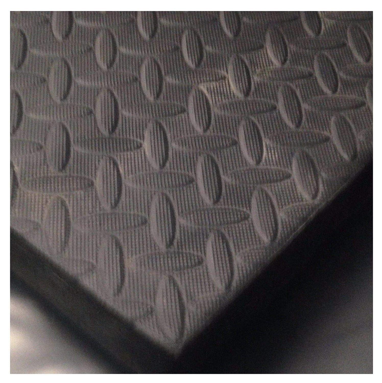ARKMat Stallmatte, geeignet für Pferde, Ponys oder Vieh, EVA-Bodenbelag oder Wandmatten, auch geeignet für Fitnessstudios, stabil, 1,82 x 1,22 m, Schwarz