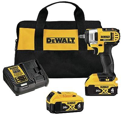 DEWALT 20V MAX Cordless Impact Wrench Kit